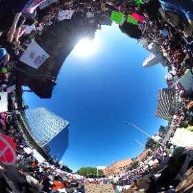 1/21/17: 100,000+ participated in the #WomensMarchLA  #popup360newsroom