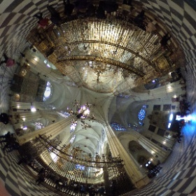 Toledo cathedral crossing #theta360