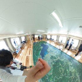 新「うみのこ」の船内。多目的室。 #theta360