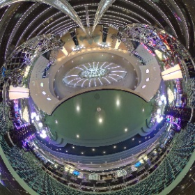 Look around the MSc Divina's casino, as seen from the center staircase! #theta360