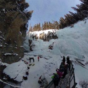 Photosphere: Ice climbers. Upper falls. Johnston Canyon, #Banff National Park. #MyBanff