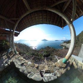 広島の離島、大崎上島にある、ホテル清風館の露天風呂からの景色! また行きたいなぁ…。 #大崎上島観光PR #theta360