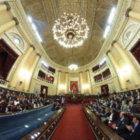 Inaguración de SEKMUN en el Senado de España #theta360