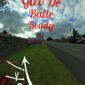 Ballycastle ready for the Giro De Báile cycling race 6th August 2017 #girodebaile #rain3d #div360 #mayo360 #theta360