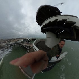 I caught some fresh air along the Dutch coast yesterday. good to see the pier is back in business! #theta360