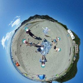 城崎海岸にて海水浴! #miku360 #theta360
