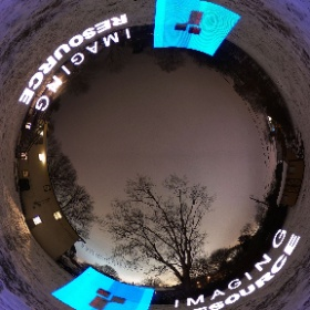 The Imaging Resource logo light-painted across my snowy garden with a preproduction Fotorgear Magilight and recorded with the Ricoh Theta V. Note that the brightness variation in the logos is user error; I forgot to turn blink mode off, sorry!