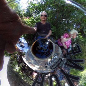 A glass of Hoyne Dark Matter beer #theta360