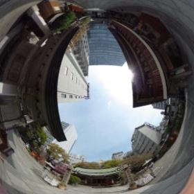 露天神社(お初天神)  photo : 360度カメラ研究会(http://camera-360do.com/) by ほーりー
