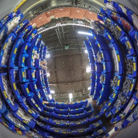Warehouse bins and conveyer belts, perfect for a 360 degree VR. #theta360