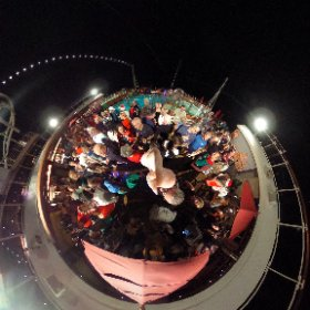 "Tonight's final conference party aboard the Carnival Vista, this time with an ""ugly sweater"" theme! #theta360"