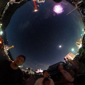 花火大会 境港 みなと祭り #theta360