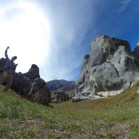 Castle hill, South Island, New Zealand #theta360