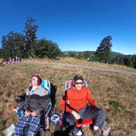 #OregonEclipse2017 4:30am drive to an amazing field at Fort Yamhill Nat'l Historic Site directly in the Path Of Totality. Clear skies. Our #EclipseGlasses let us watch the sun get eaten one bite at a time. #theta360