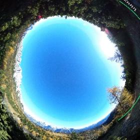 Postazione P1, cannoncino da montagna dell'area Val da Porte del Parco della Memoria di Pian dei Buoi - Lozzo di Cadore Dolomiti  #theta360 #theta360it