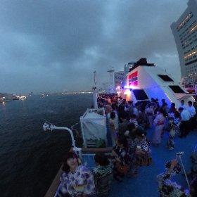 東京湾納涼船! #theta360