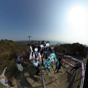鋸山に行った時にピュイ!久しぶりの大自然。坂道キツかった... #miku360 #theta360