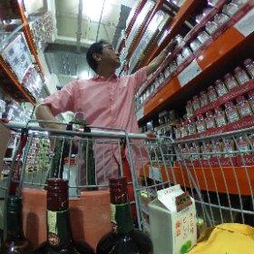 COSTCO 多摩境倉庫店に買い出し 今回の買い物はアルコール類の多いな〜 #theta360