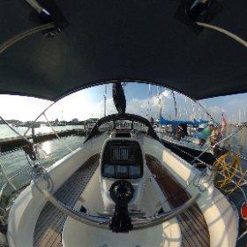 Spherical image of a sailing yacht. Yachtfernsehen.cm testing  the Ricoh Theta S.   #theta360 #theta360de