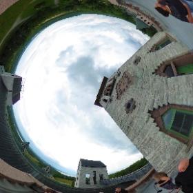 Visite des hauteurs de l'Abbaye de Saint-Benoît-du-Lac #theta360 #theta360fr