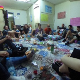 Refugee Volunteers of Izmir (ReVi) gather to discuss ways to help!  #theta360