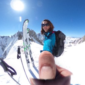 #lovinglife on Col d'Argentiere  #theta360 #theta360uk