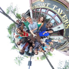 360 Wrap shot for day 2 in downtown #Portsmouth - with surprise guest.... Sunshine!! @arengee2 #jpixx #bts #theta360