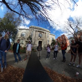My Visual Literacy class discussing the concept of the Panopticon while making a 360 photograph. #theta360