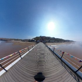 360 shot of the pier at Saltburn.  #theta360 #theta360uk
