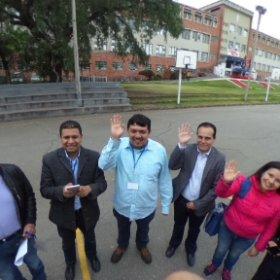 Y saludando todos a la cámara #theta360