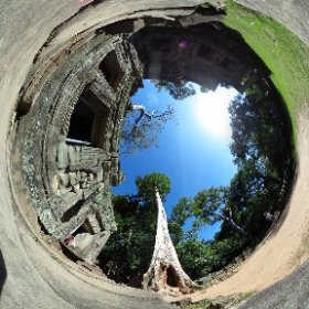 Tomb Raider, Massive Tree, Cambodia Wat, Temple, Siem Reap #theta360