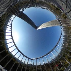 浮島パークなんとう展望塔2F #theta360