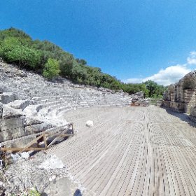 Butrint amphitheater. One of the most beautiful ancient sites in southern #Albania #Butrint #theta360
