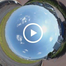 八尾空港 360°空間音声テスト用 2K圧縮 #THETAV