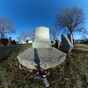 Grave of Otto Plath. Close up. Winthrop Cemetery, Winthrop,  Massachusetts.  #sylviaplath #ottoplath #theta360