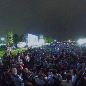 横浜ファンゾーン全天球撮影 日本対ロシア戦 #ラグビーワールドカップ #rwc2019 #theta360