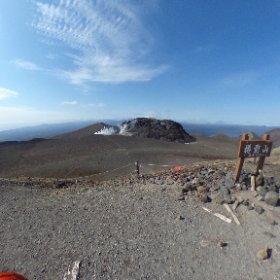 樽前山頂上。 #theta360