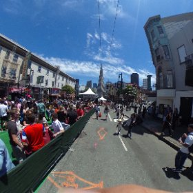 Here at the #northbeachfestival enjoying a beautiful Saturday in #SF #theta360