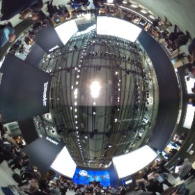 Voller Duravit Messestand in Halle 3.1 im 360 Grad Blick #theta360