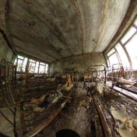 An image I shot while visiting a school in Pripyat. #theta360