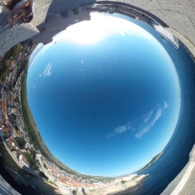 Dubrovnik from Fort Lovrijenac #theta360uk