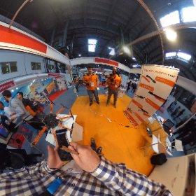 Los amigos de @airkdrones estuvieron en The Drone Show en #barcelona @showdrone  #theta360
