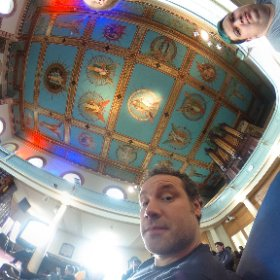 Check out that roof! Listening to @LeonieWatson at @OTA16 #theta360