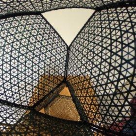 "Inside Kizaki Kazutoshi's piece ""Light"" at TAI Modern in Santa Fe. #theta360"