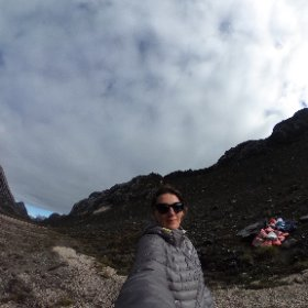 At the foot of #Carstensz Pyramid Ready to fly back to civilisation.  #theta360 #theta360uk
