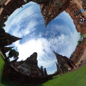世界遺産アユタヤのワットチャイワッタナラーム遺産でイェー。#LoveThailand #amazingThailand #Thailand #タイあついー #theta360