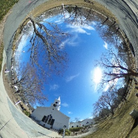 A 360° photo of the Dennis Union Church.  #theta360