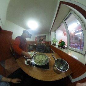 ハルビンの晩ご飯、自助餃子。 セルフという意味なのですが作ってくれました。 #theta360