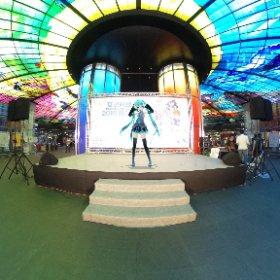 美麗島駅でのアイドルステージ #miku360 #theta360
