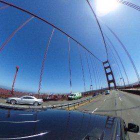 Golden Gate Bridge view with a #theta360. #goldengate #sanfran